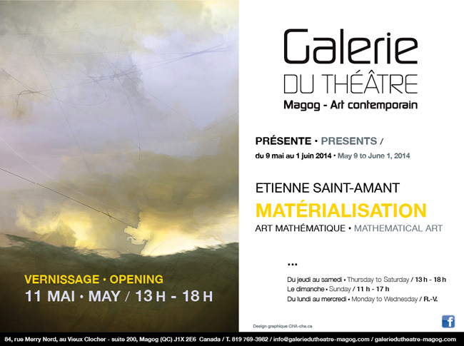 Materialization Exhibition Galerie du Theatre Magog